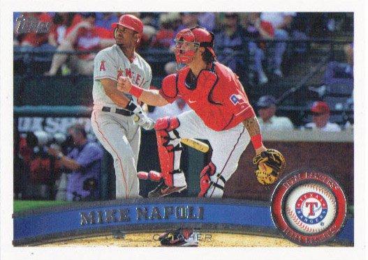 Mike Napoli 2011 Topps Update #US19 Texas Rangers Baseball Card