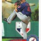 Josh Tomlin 2011 Topps #160 Cleveland Indians Baseball Card