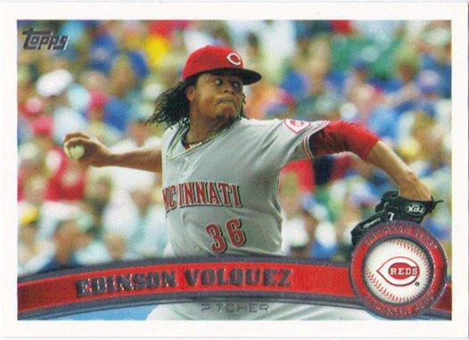 Edinson Volquez 2011 Topps #63 Cincinnati Reds Baseball Card