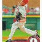 Jered Weaver 2011 Topps #75 Los Angeles Angels Baseball Card