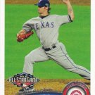 C.J. Wilson 2011 Topps Update #US147 Texas Rangers Baseball Card