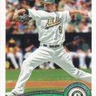 Dallas Braden 2011 Topps #567 Oakland Athletics Baseball Card