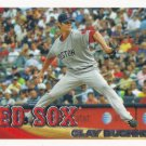 Clay Buchholz 2010 Topps #572 Boston Red Sox Baseball Card