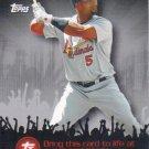 Albert Pujols 2009 Topps 'Topps Town' #TTT13 St. Louis Cardinals Baseball Card