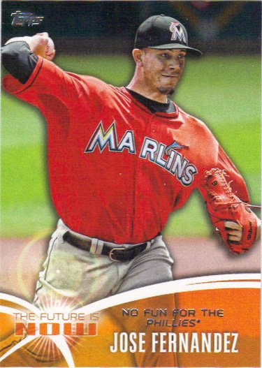 Jose Fernandez 2014 Topps 'Future Is Now' #FN-21 Miami Marlins Baseball Card