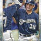 Gerardo Parra 2015 Topps #334 Milwaukee Brewers Baseball Card