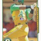 Yoenis Cespedes 2014 Topps #14 Oakland Athletics Baseball Card