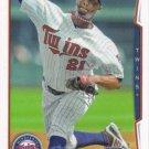 Samuel Deduno 2014 Topps #463 Minnesota Twins Baseball Card
