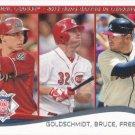 Paul Goldschmidt-Jay Bruce-Freddie Freeman 2014 Topps #143 Baseball Card