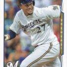 Carlos Gomez 2014 Topps #302 Milwaukee Brewers Baseball Card