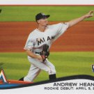 Andrew Heaney 2014 Topps Update Rookie Debut #US-13 Miami Marlins Baseball Card