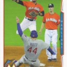 Donovan Solano 2014 Topps #567 Miami Marlins Baseball Card