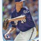 Johnny Hellweg 2013 Topps Update Rookie #US19 Milwaukee Brewers Baseball Card