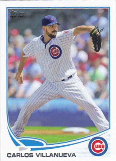 Carlos Villanueva 2013 Topps Update #US62 Chicago Cubs Baseball Card