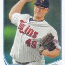 Vance Worley 2013 Topps Update US49 Minnesota Twins Baseball Card