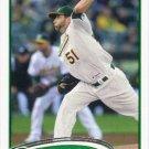 Dallas Braden 2012 Topps #577 Oakland Athletics Baseball Card