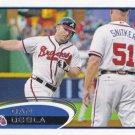 Dan Uggla 2012 Topps #565 Atlanta Braves Baseball Card