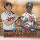 Freddie Freeman-Fred McGriff 2015 Topps 'Inspired Play' Atlanta Braves #I-10 Baseball Card