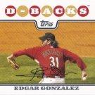 Edgar Gonzalez 2008 Topps #247 Arizona Diamondbacks Baseball Card