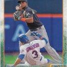 Adeiny Hechavarria 2015 Topps #656 Miami Marlins Baseball Card