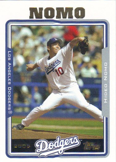 Hideo Nomo 2005 Topps #78 Los Angeles Dodgers Baseball Card