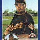 Neifi Perez 2003 Topps #527 San Francisco Giants Baseball Card