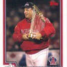 Mike Scioscia 2004 Topps #267 Anaheim Angels Baseball Card
