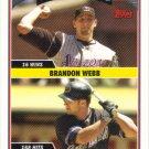 Brandon Webb-Chad Tracy 2006 Topps Update #US305 Arizona Diamondbacks Baseball Card