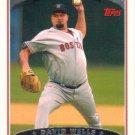 David Wells 2006 Topps #240 Boston Red Sox Baseball Card