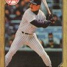 Mike Pagliarulo 1987 Topps #195 New York Yankees Baseball Card