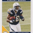Vincent Brown 2011 Score Rookie #399 San Diego Chargers Football Card