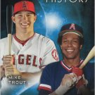 Mike Trout-Rod Carew 2015 Topps 'Eclipsing History' #EH-7 Angels Baseball Card