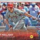 Matt Holliday 2015 Topps Opening Day #130 St. Louis Cardinals Baseball Card