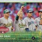 Sonny Gray 2015 Topps Update #US93 Oakland Athletics Baseball Card