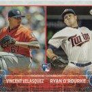 Vincent Velasquez-Ryan O'Rourke 2015 Topps Update Rookie #US258 Baseball Card