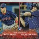 Travis Shaw-Allan Dykstra 2015 Topps Update Rookie #US41 Baseball Card