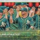 Oakland Athletics 2015 Topps #33 Baseball Team Card