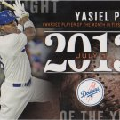 Yasiel Puig 2015 Topps 'Highlight of the Year' #H-90 Los Angeles Dodgers Baseball Card