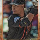 Norichika Aoki 2015 Topps Update #US335 San Francisco Giants Baseball Card