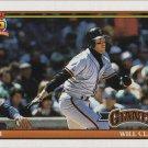 Will Clark 1991 Topps #500 San Francisco Giants Baseball Card