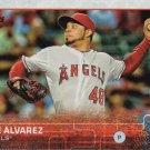 Jose Alvarez 2015 Topps Update #US339 Los Angeles Angels Baseball Card