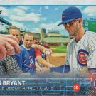 Kris Bryant 2015 Topps Update Rookie Debut #US283 Chicago Cubs Baseball Card