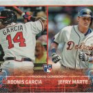 Adonis Garcia-Jefry Marte 2015 Topps Update Rookie #US108 Braves-Tigers Baseball Card