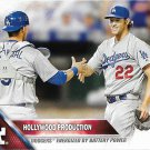 A.J. Ellis-Clayton Kershaw 2016 Topps #24 Los Angeles Dodgers Baseball Card