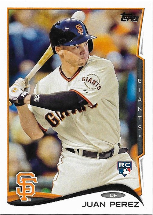 Juan Perez 2014 Topps Update Rookie #US271 San Francisco Giants Baseball Card
