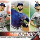 Zack Greinke-Jake Arrieta-Clayton Kershaw 2016 Topps #58 Baseball Card