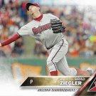 Brad Ziegler 2016 Topps #25 Arizona Diamondbacks Baseball Card