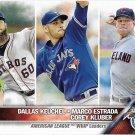 Dallas Keuchel-Marco Estrada-Corey Kluber 2016 Topps #346 Baseball Card