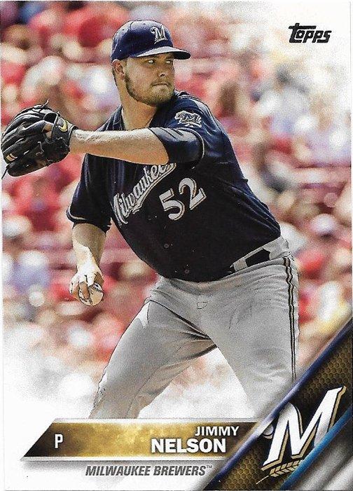 Jimmy Nelson 2016 Topps #690 Milwaukee Brewers Baseball Card