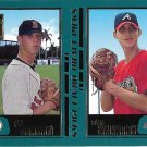 Phil Dumatrait-Adam Wainwright 2001 Topps Rookie #355 Red Sox/Braves Baseball Card